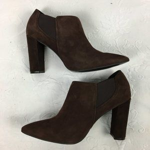 Marc Fisher Hydra Brown Suede Pointed Toe Bootie